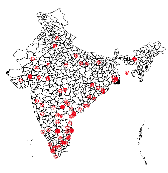 Microfinance in India: Getting a sense of the geographic distribution