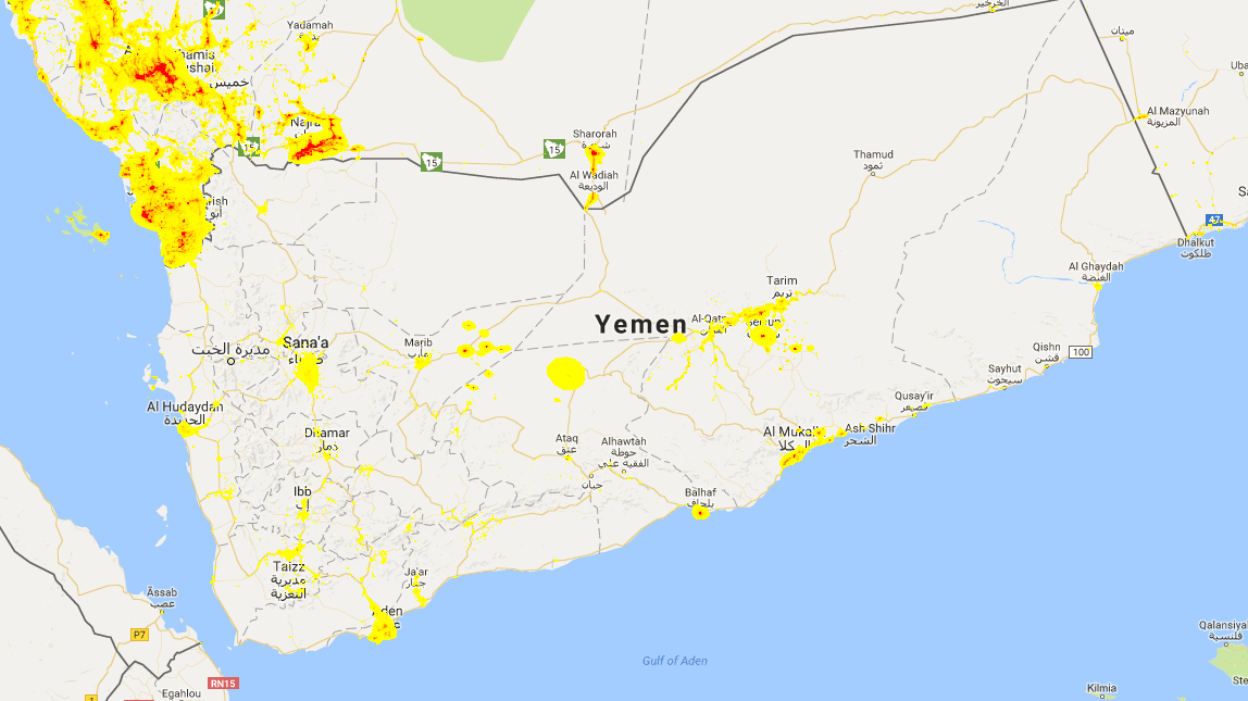 Using R to study the Yemen Conflict with night light images